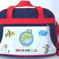 Bolsa de viagem pequena com alça regulavel, bolso frontal e fechamento em ziper COD: BOL 046