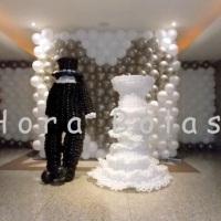 Cenário interativo para casamento