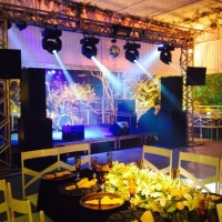 Iluminação de Dancing, Palco, tvs
