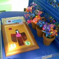Cartões, vasos, quadros em origami