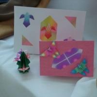 cartões em origami