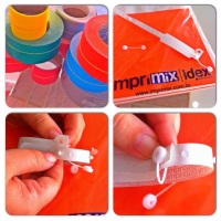 Passo a passo como funciona o novo fecho das pulseiras em PVC. #prático #inviolável