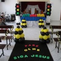 Decoração EBF Pare Olhe Siga a Jesus