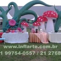 decoração aérea, decoração alice inflavel, decoração cha da veveta, decoração de festa infantil