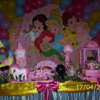 mesa tematica princesas baby