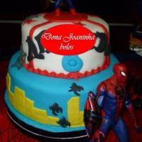 Dona Joaninha bolo homem aranha