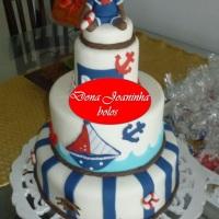 Dona Joaninha bolo ursinho marinheiro