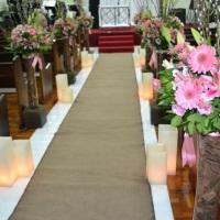 Decoração floral de igrejas