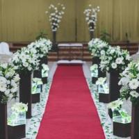 Decoração floral para igrejas