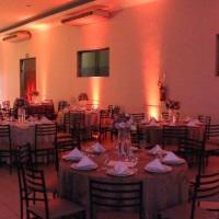 Mudamos a cor do seu ambiente de festa várias vezes durante o evento.