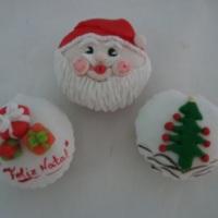 muffins decorados - natal