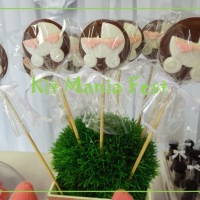 Doces decorados - Pirulitos e Cupcakes.