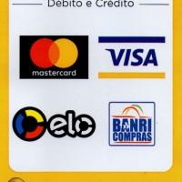 Aceitamos cartão de crédito e débito.