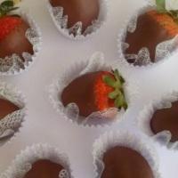 Morangos banhados ao chocolate