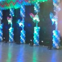 iluminação arquitetural decorativa em formatura escola infantil pintando 7 sumaré