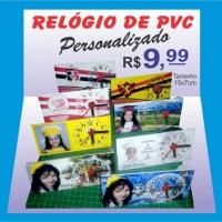 Relógio de PVC Personalizado