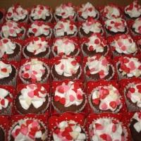 Mini cupcakes com glacê saborizado