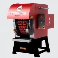 Máquina de espetinho de churrasco Sétima Festas e Eventos.