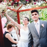 Saída dos Noivos Fernanda&Samuel - Espaço Bouganville