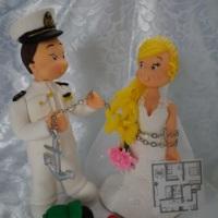 Noivos fofos marinheiro