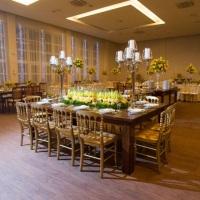 Salão decorada para festa de casamento