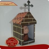 Santo Antônio de chocolate na capelinha