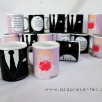 Canecas personalizadas para lembrancinha de casamento, noivado, aniversário, canecas personalizadas