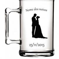 Canecas de chopp personalizadas para o seu casamento, noivado, aniversario, lembranças, lembrancinha