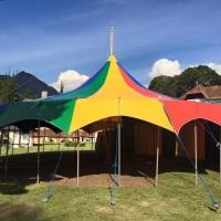 Lona de circo profissional modelo aranha 15x15m capacidade 50 jogos de mesas