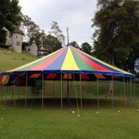 Lona de circo profissional modelo reta 15x15m capacidade 50 jogos de mesas