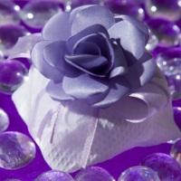 Bem-casado luxo tecido pique e flor