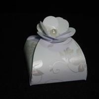 Bem-casado caixa e flor perolada
