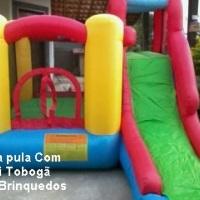 PULA PULA COM MINI TOBOGÃ INFLÁVEL