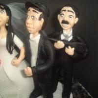 pai da noiva com a espingarda na mâo