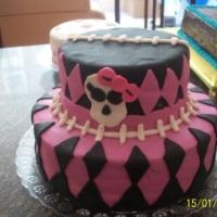 bolo mesclado verdadeiro com maqueti