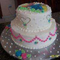 bolo dois andares tema princesa