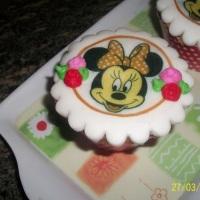 cup cake tema minie