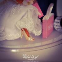 Sapatinho de salto igual ao da noiva