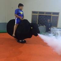 touro mecanico com fumaça