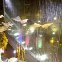 Cascata de água... Efeito mais que especial e sofisticado em sua festa!
