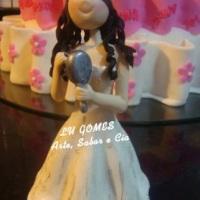 Topo de bolo para 15 Anos !!! By Lu Gomes - Arte, Sabor e Cia.