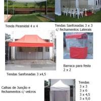 Tendas Piramidal, Sanfonadas e Barracas