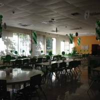 Pingente de balões para restaurante