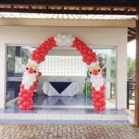 Arco de balões Papai Noel