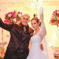 Brinde dos noivos Aline e Ramon!