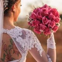 Ensaio da noiva Aline.