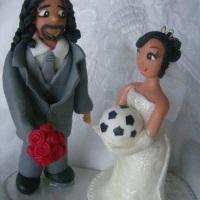 Topo de Bolo personalizado de Casamento
