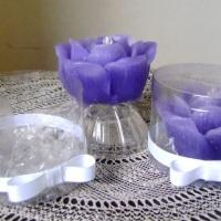 velas perfumadas na caixa de acetato