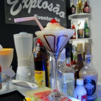 Frozen de banana desenvolvido para treinamento de Bartenders iniciantes junto a empresa de eventos.