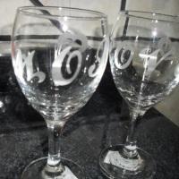 Taça de vinho para lembrança
